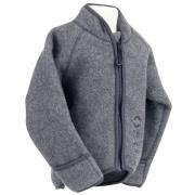 Jakke i uld fleece fra Mikk-Line - m. tryllehånd - Grey melange