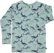 Langærmet UV trøje fra Småfolk - Hajer