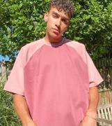 ASOS DESIGN Tall - Lyserød ekstremoversizedT-shirt ipolytricot