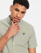 Lyle & Scott - Kortærmet skjorte med gingham-tern-Grøn
