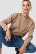 NA-KD Basic Basic Sweater - Beige