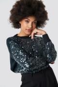 Trendyol Shiny Knitted Sweater - Blue