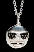 Halskæde Silver Emoji Sunglasses