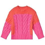 Stella McCartney Kids Color Block Knit Sweater Pink/Red 2 years