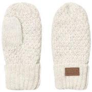 Melton Lamb Wool Sailor Mittens Off White 0-1 år
