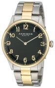 Akribos XXIV 99999 Herreur AK787TTG Sort/Gul guldtonet stål Ø42 mm