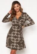 Chiara Forthi Sonnet Mini Wrap Dress Black / Patterned S