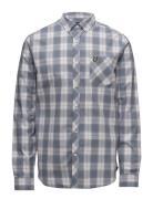 Check Shirt Skjorte Casual Blå Lyle & Scott